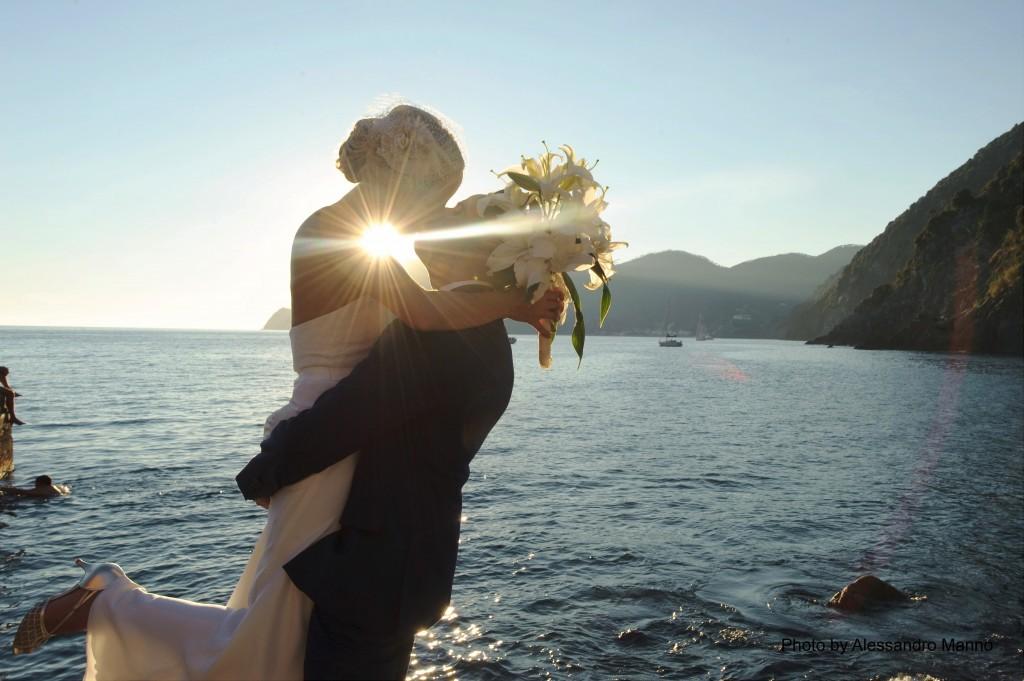 Cinque Terre wedding Italy. Basia and David