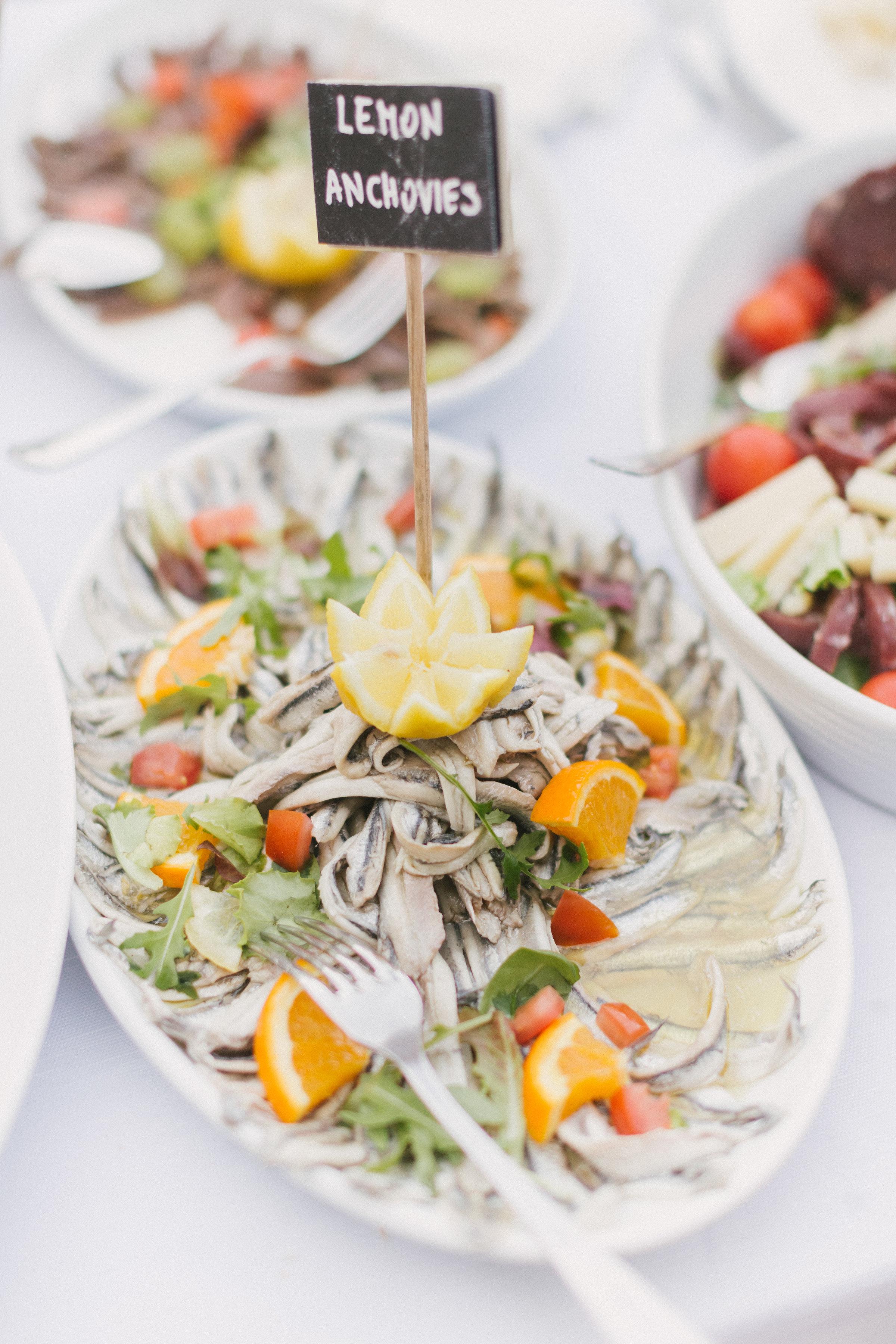 Cinque Terre Wedding food
