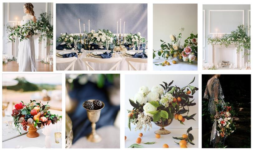 Modern Renassiance Wedding nspiration Board