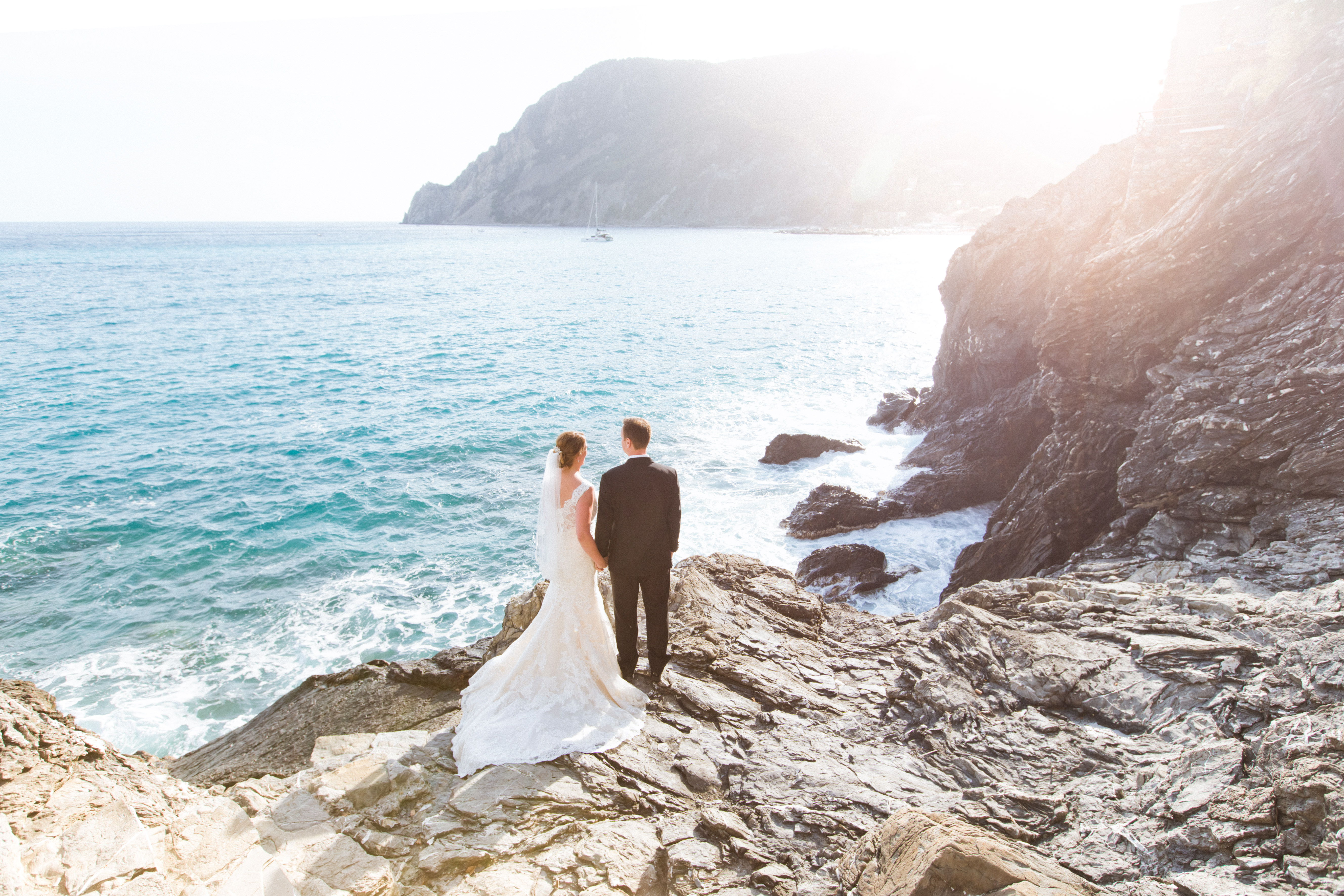 Jewish destination wedding in cinque terre