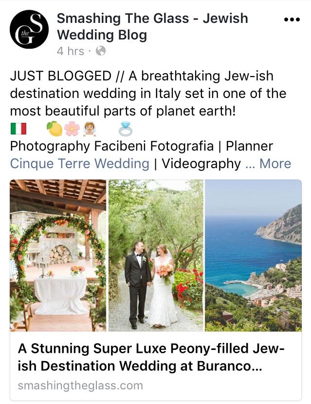 jewish destination wedding in Cinque Terre