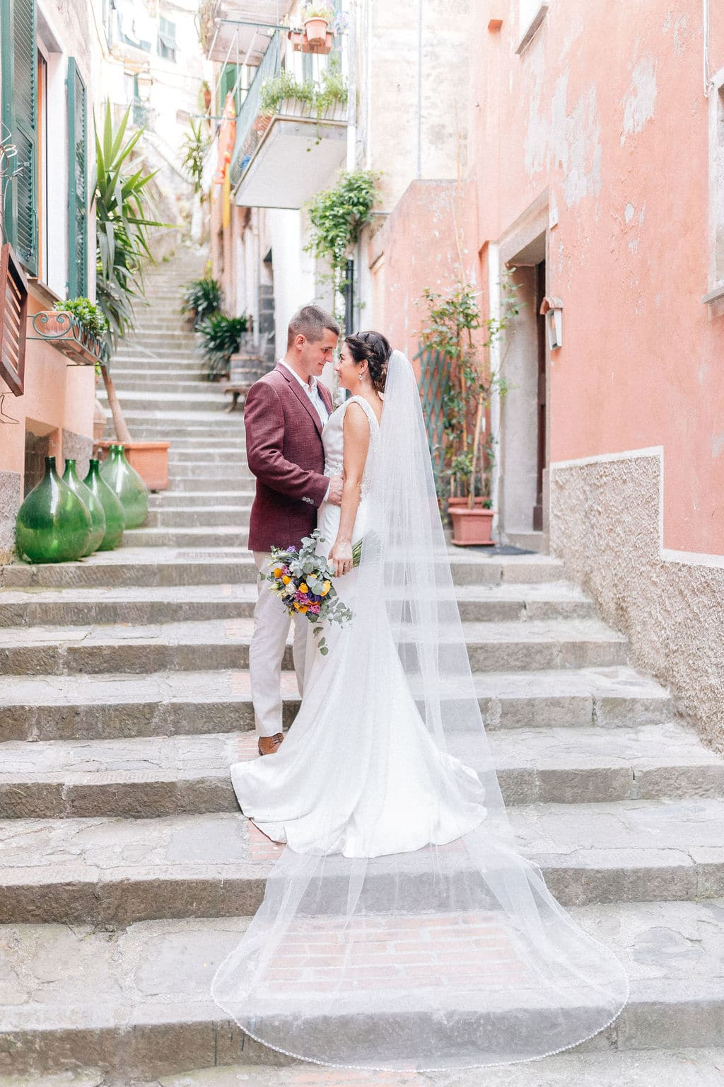 Love Story real wedding cinque terre