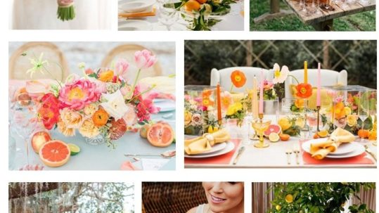 lemon table setting wedding