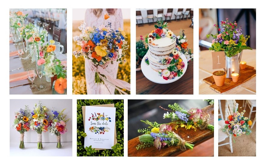 Wild Flower Wedding Inspiration Board 2020