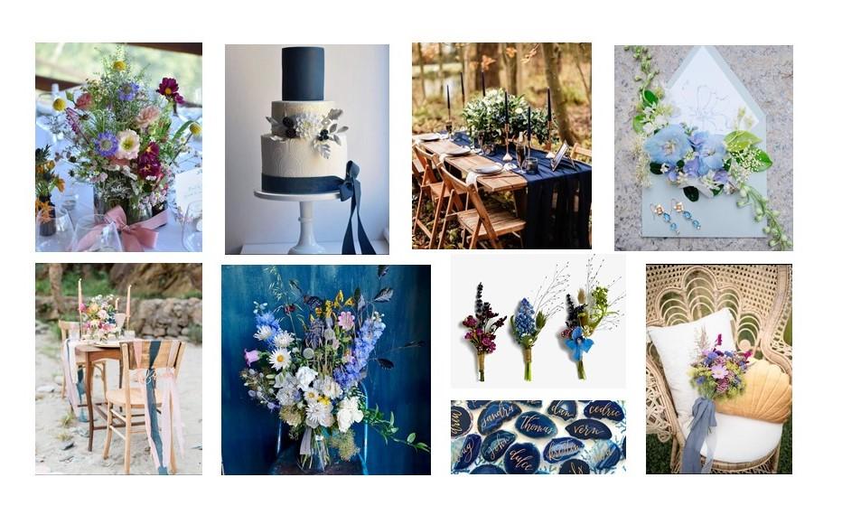 Classic Blue Wedding Inspiration Board